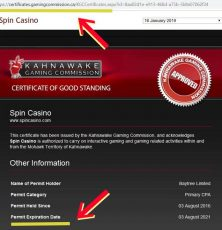 Spin casino Kahnawake license