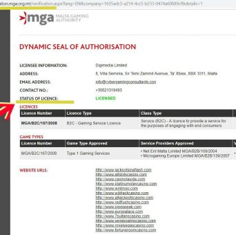 Digimedia MGA license