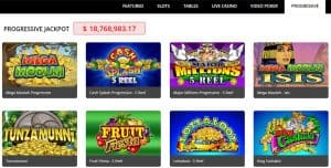 Royal Vegas progressive jackpot games