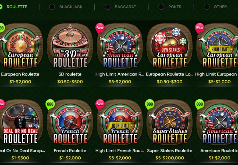 888 casino Roulette games choice