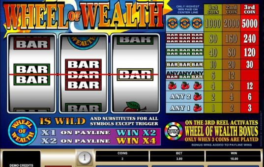 Microgaming Wheel of Wealth slots