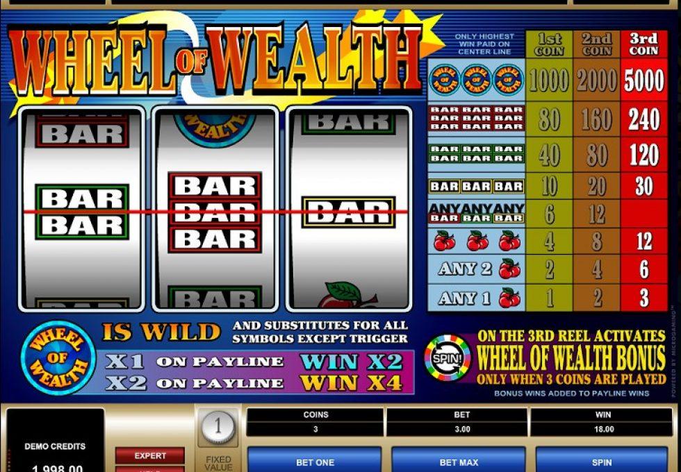 Microgaming Wheel of Wealth slots