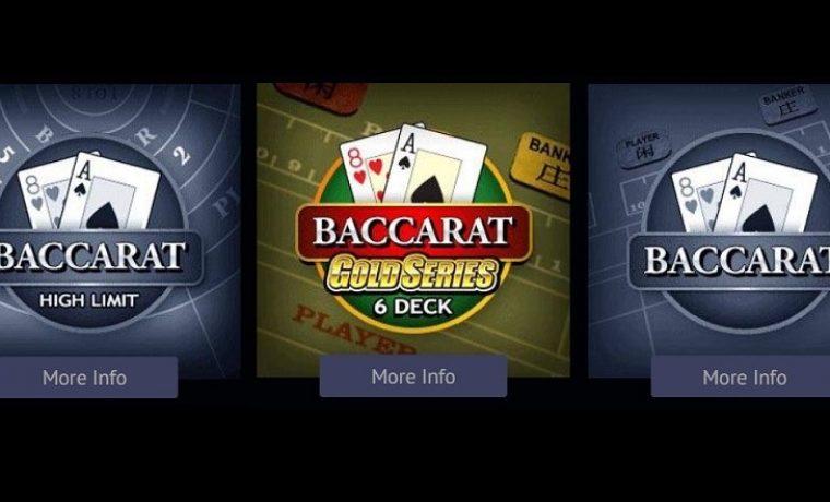 Baccarat at Spin Palace Casino