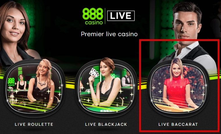 Baccarat Live at 888 Casino