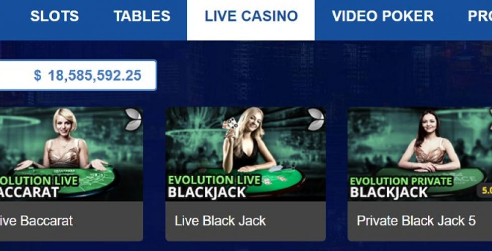 Blackjack live at allslots casino