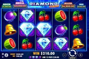 Diamond strike slots at Bondibet