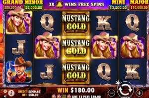 Mustang gold slots at Bondibet