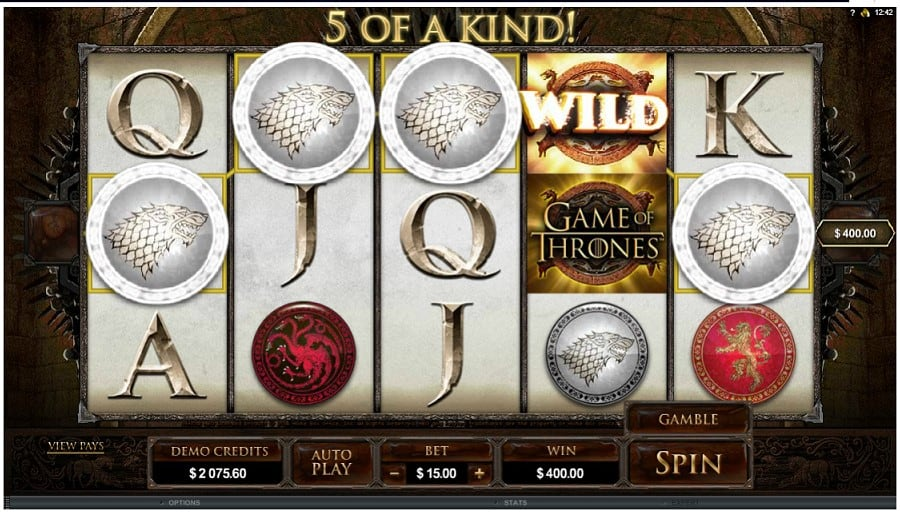 game of thrones slots at yako casino demo mode